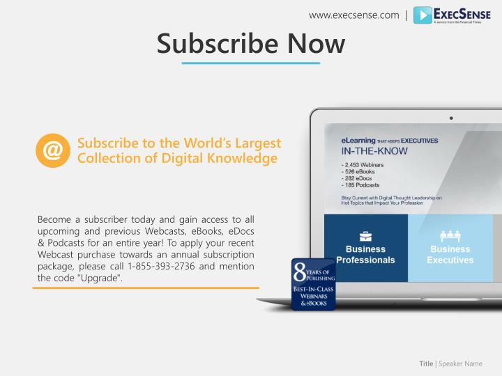 Subscribe to the World's Largest Collection of Digital Knowledge