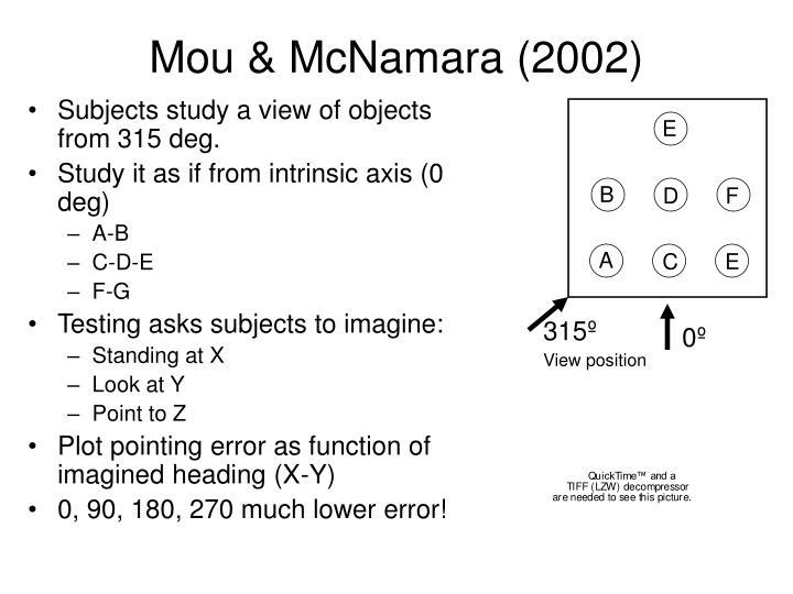 Mou & McNamara (2002)