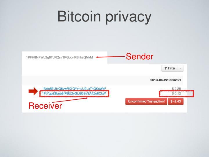 Bitcoin privacy