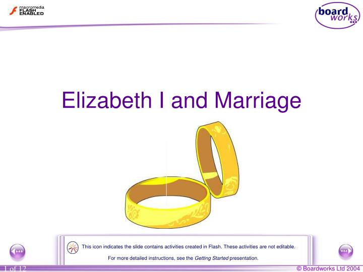 Elizabeth i and marriage