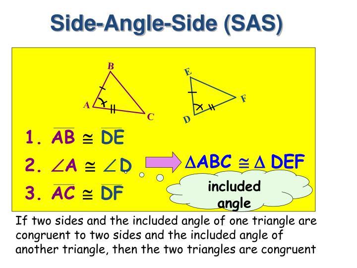 Side-Angle-Side (SAS)