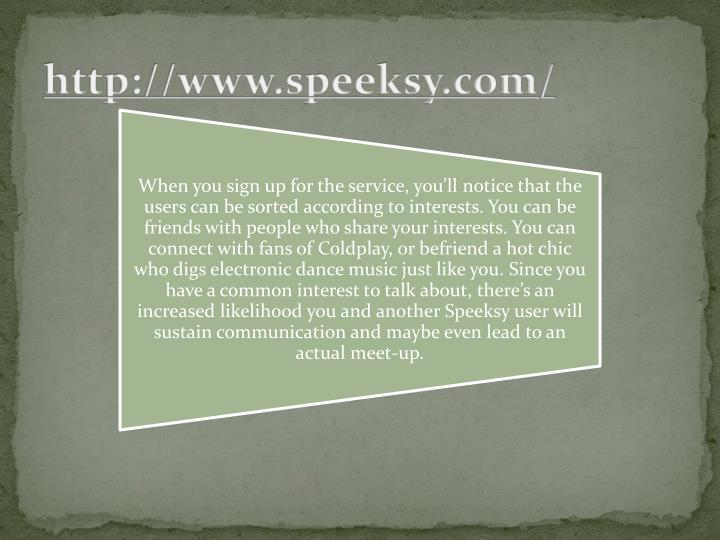 http://www.speeksy.com