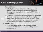 costs of disengagement