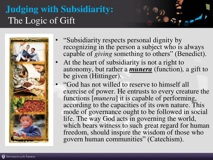 Judging with Subsidiarity: