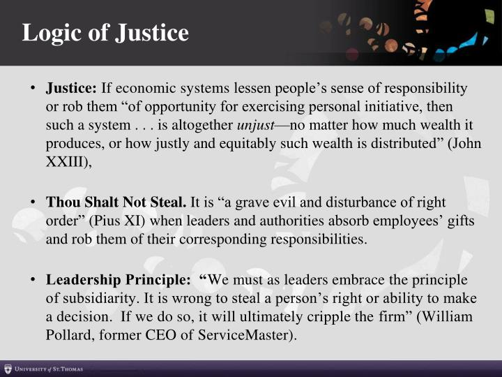 Logic of Justice