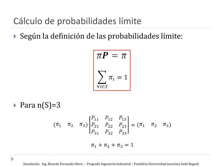 Cálculo de probabilidades límite