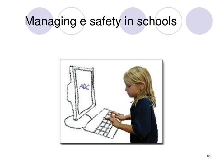 Managing e safety in schools