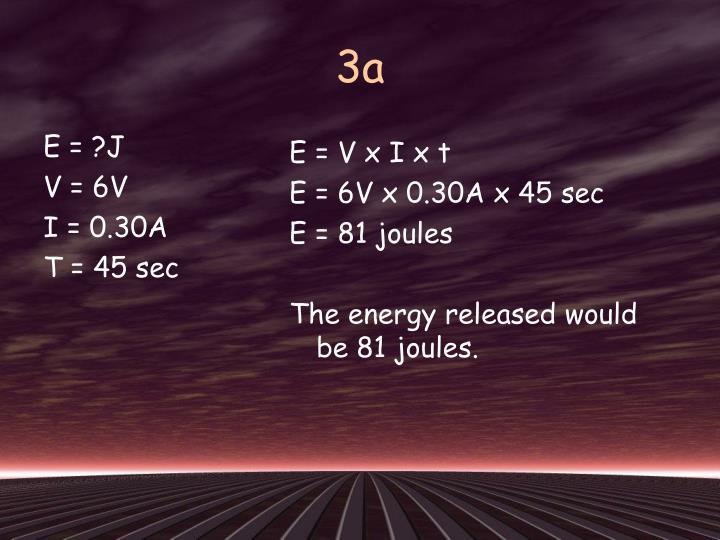 E = ?J