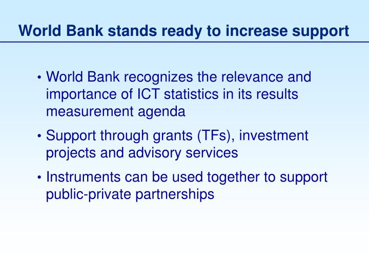 World Bank stands ready to increase support