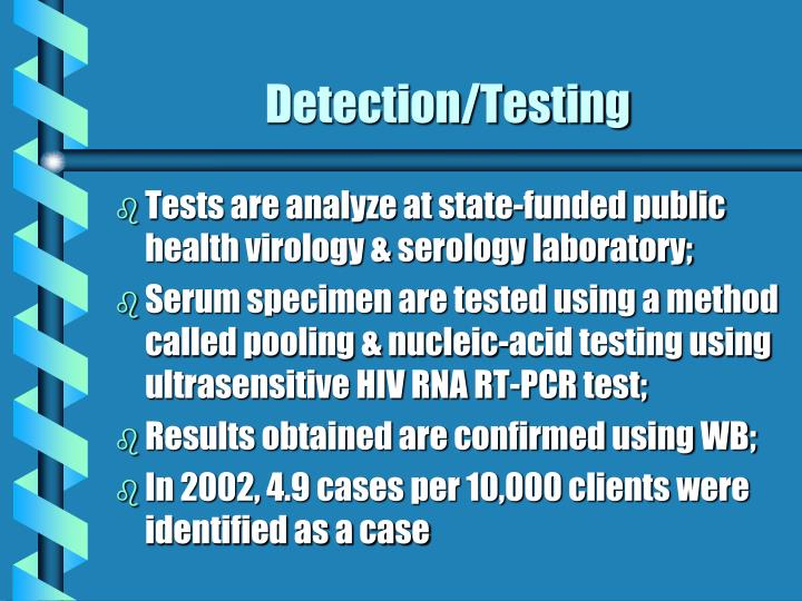 Detection testing
