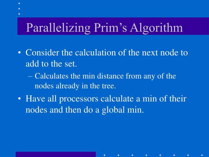 Parallelizing Prim's Algorithm
