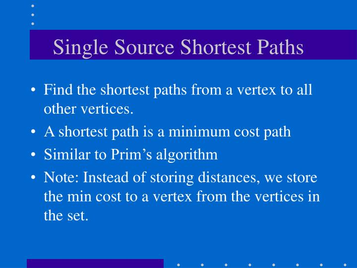 Single Source Shortest Paths