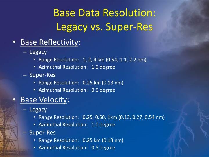 Base Data Resolution: