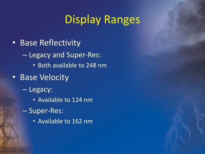Display Ranges