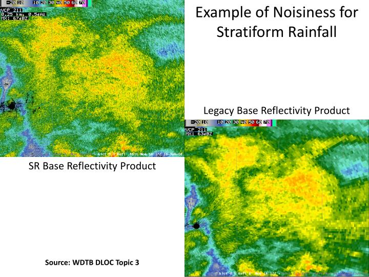 Example of Noisiness for Stratiform Rainfall