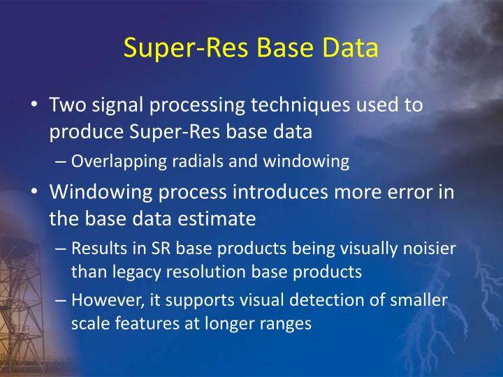 Super-Res Base Data