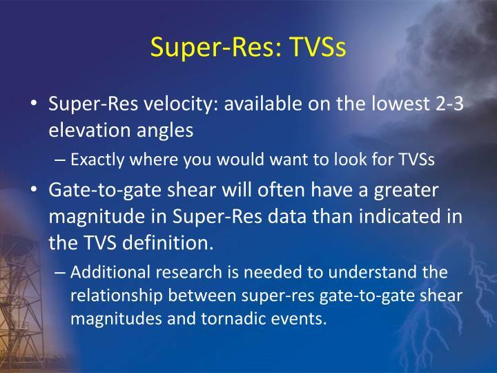 Super-Res: TVSs
