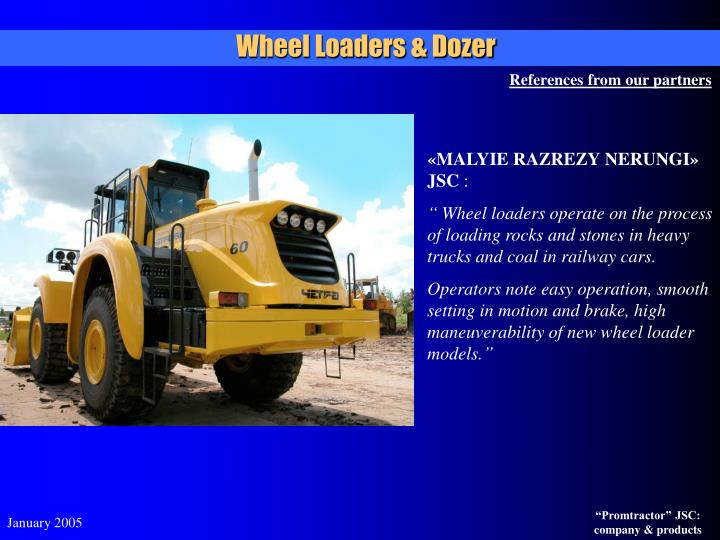 Wheel Loaders & Dozer