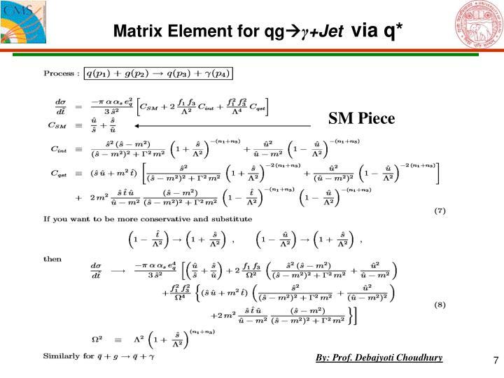 Matrix Element for qg