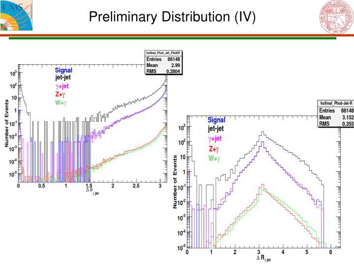 Preliminary Distribution (IV)