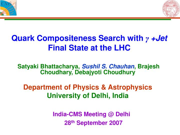 Quark compositeness search with jet final state at the lhc