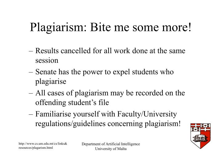 Plagiarism: Bite me some more!