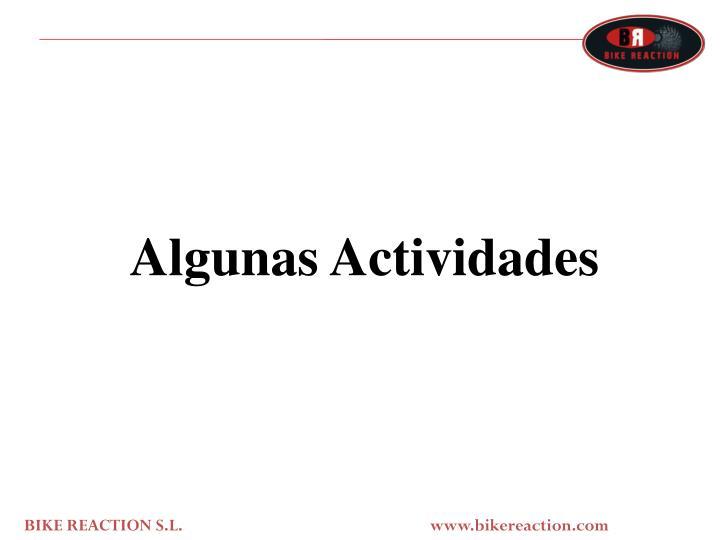 Algunas Actividades