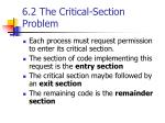 6 2 the critical section problem1