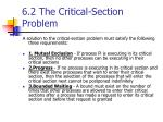 6 2 the critical section problem2