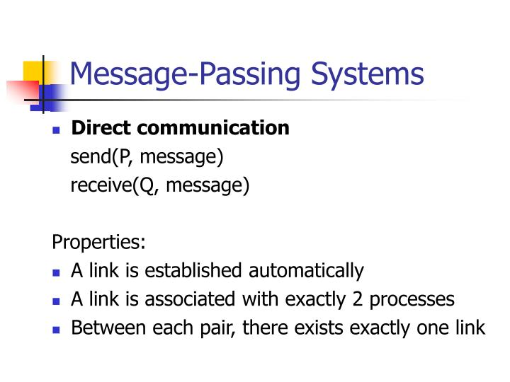 Message-Passing Systems