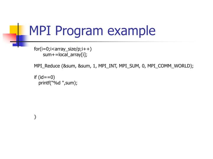 MPI Program example