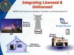 integrating licensed unlicensed
