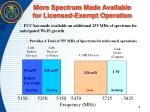 more spectrum made available for licensed exempt operation