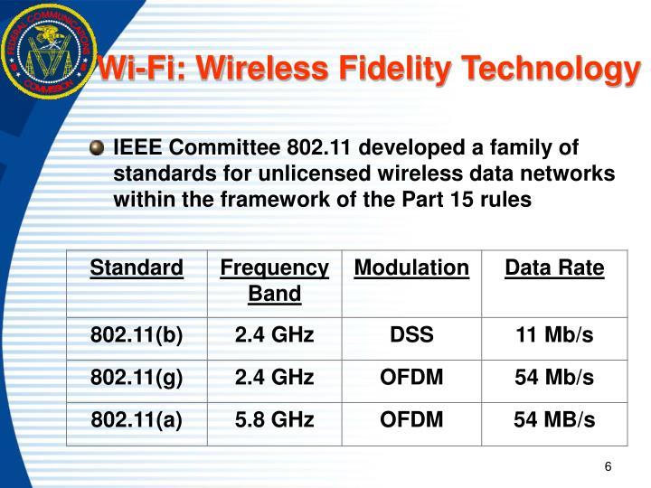 Wi-Fi: Wireless Fidelity Technology