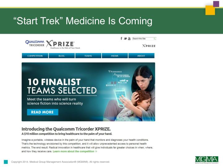 """Start Trek"" Medicine Is Coming"