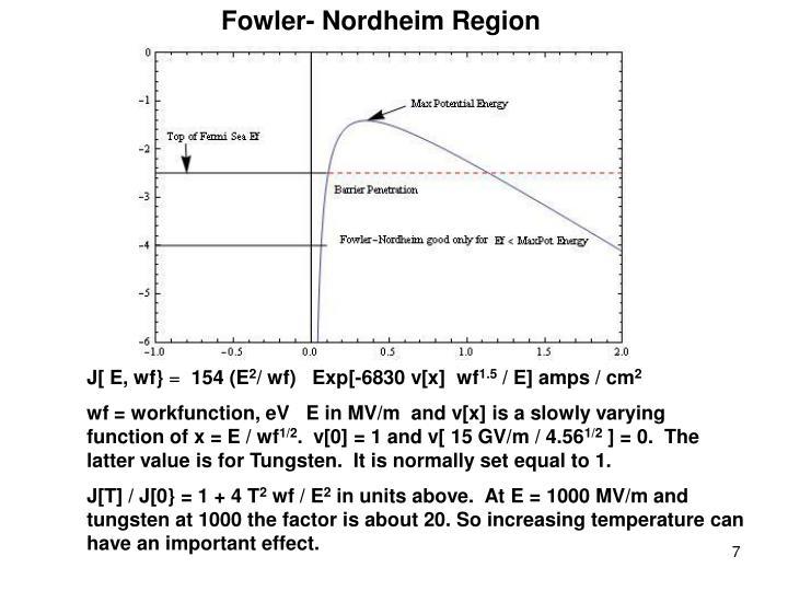 Fowler- Nordheim Region