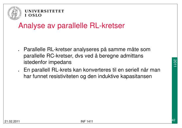 Analyse av parallelle RL-kretser