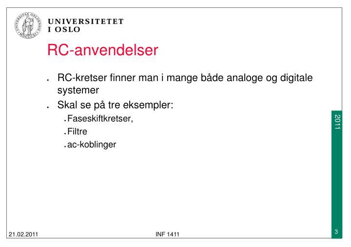 RC-anvendelser