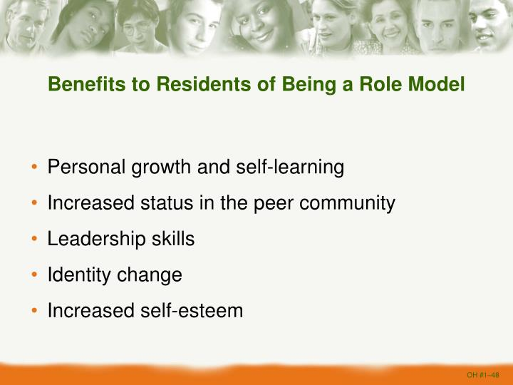Benefits to Residents of Being a Role Model