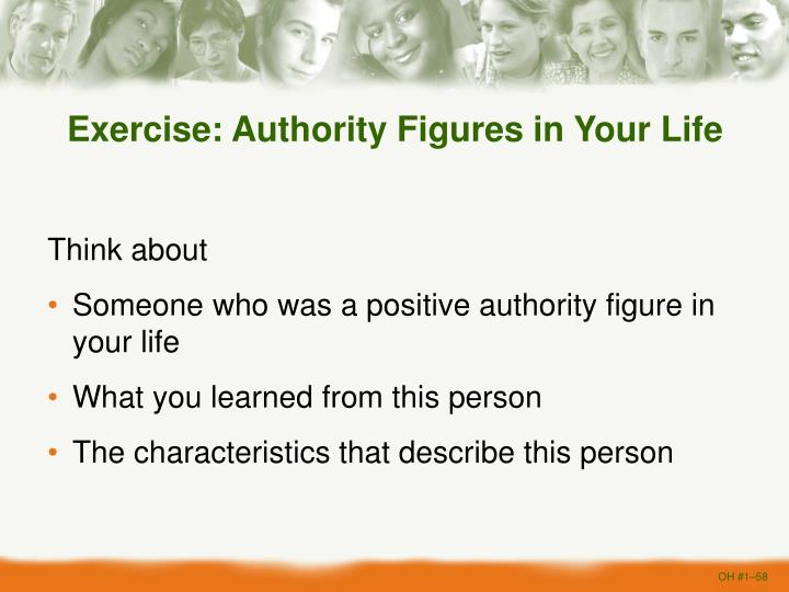 Exercise: Authority Figures in Your Life