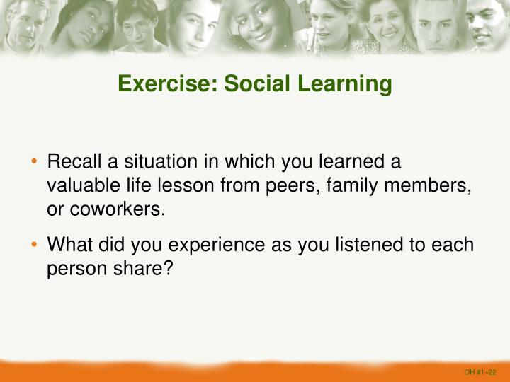 Exercise: Social Learning