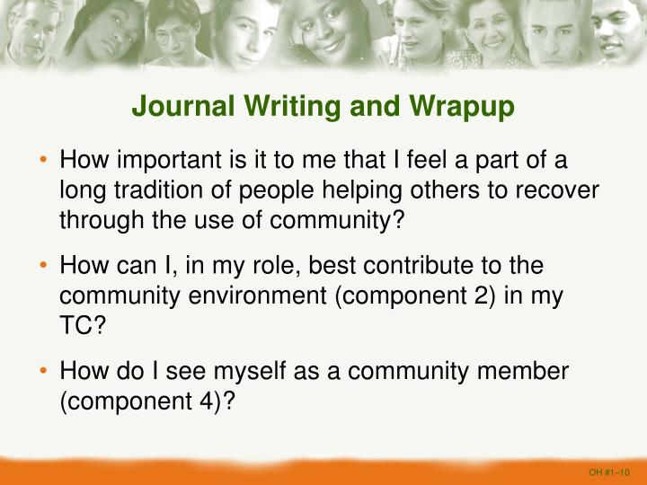 Journal Writing and Wrapup