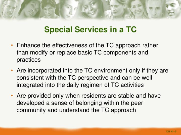 Special Services in a TC