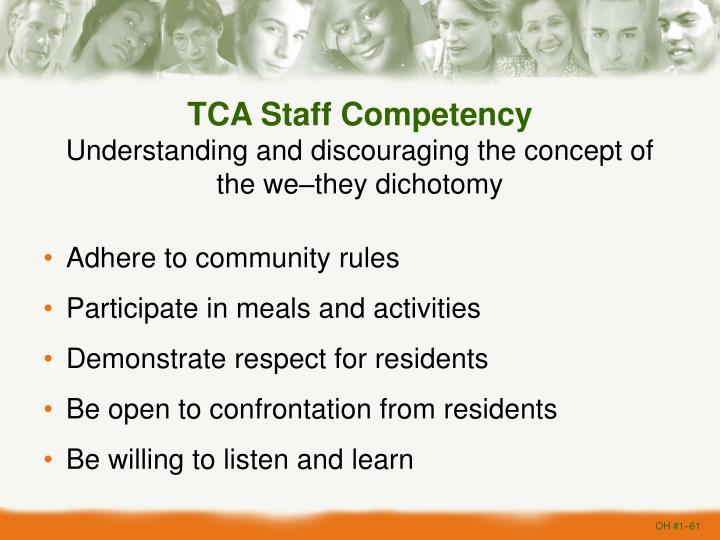 TCA Staff Competency