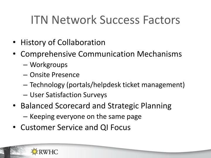 ITN Network Success Factors