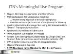 itn s meaningful use program
