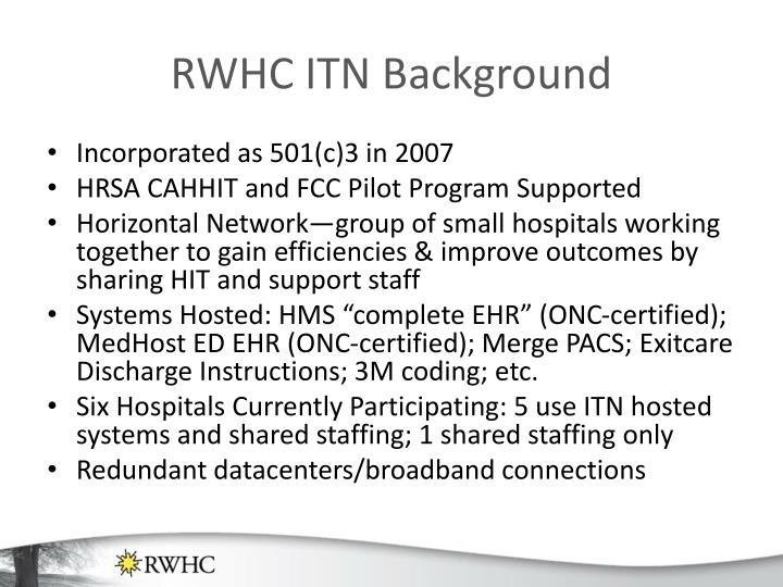 RWHC ITN Background