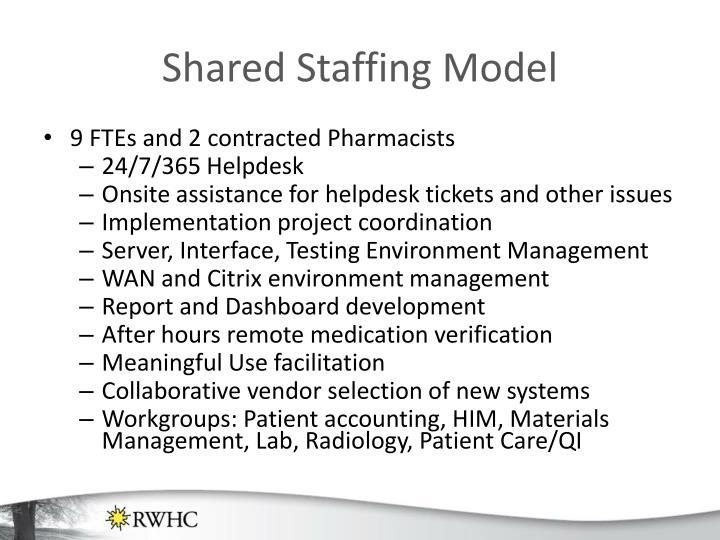 Shared Staffing Model