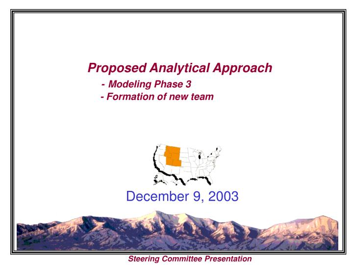 Proposed analytical approach modeling phase 3 formation of new team