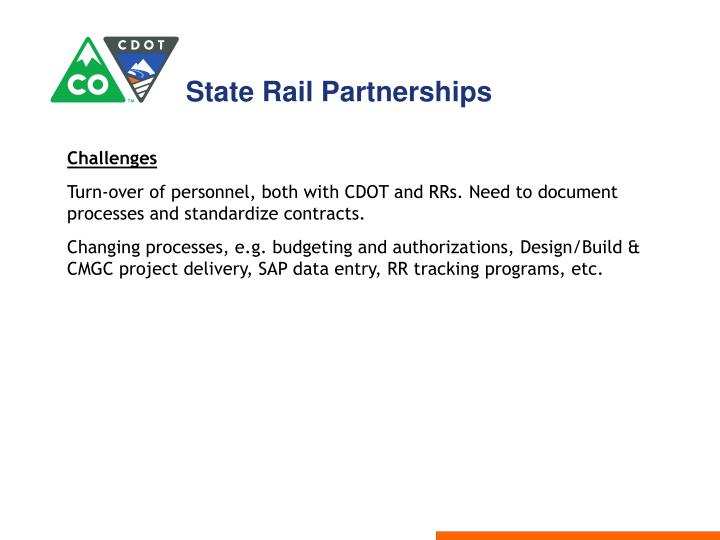State Rail Partnerships